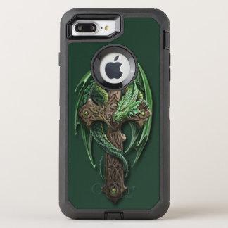 Cool Celtic Tribal Cross Dragon Tattoo Art Design OtterBox Defender iPhone 7 Plus Case