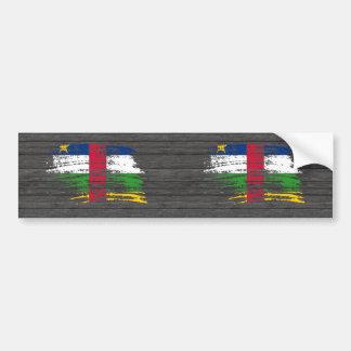 Cool Central African flag design Bumper Sticker