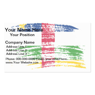 Cool Central African flag design Business Card