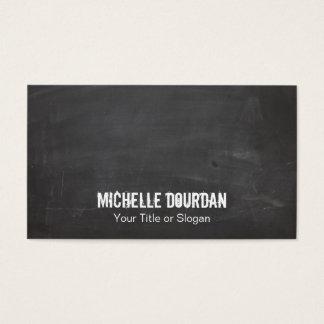 Cool Chalkboard Look Grunge Black Business Card