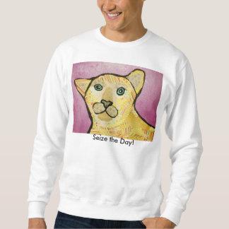 Cool Cheetah Cat Sweatshirt