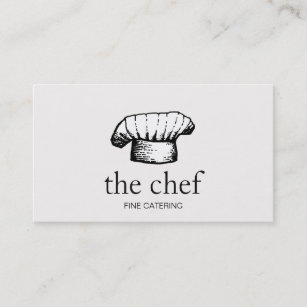 Chef hat business cards zazzle cool chef hat logo catering business card reheart Images