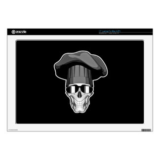 "Cool Chef Skull 17"" Laptop Decals"