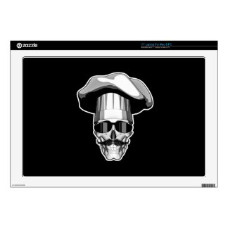 Cool Chef Skull v3 Laptop Decal