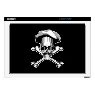 "Cool Chef Skull v4 Decal For 17"" Laptop"