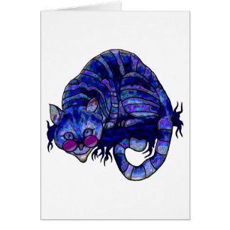 Cool Cheshire Cat Greeting Card