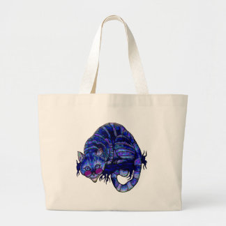Cool Cheshire Cat Large Tote Bag