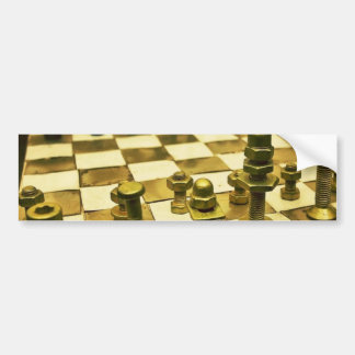 Cool Chess Board with Nuts and Bolts Bumper Sticker