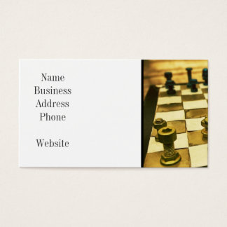 Cool Chess Board with Nuts and Bolts Business Card