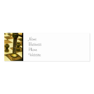 Cool Chess Board with Nuts and Bolts Double-Sided Mini Business Cards (Pack Of 20)