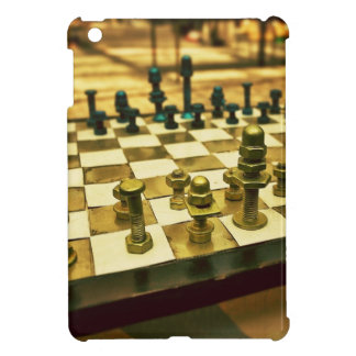 Cool Chess Board with Nuts and Bolts iPad Mini Cover