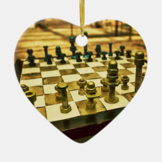 Cool Chess Board with Nuts and Bolts Christmas Ornament
