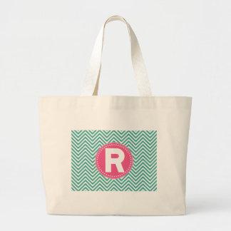 Cool Chevron R Jumbo Tote Bag