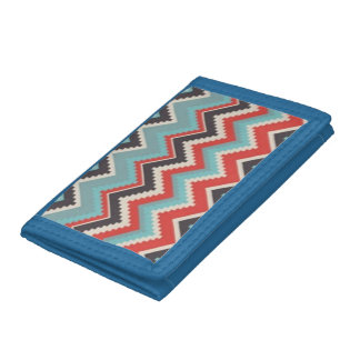 Cool Chevron Zig Zag Design Tri-fold Wallets
