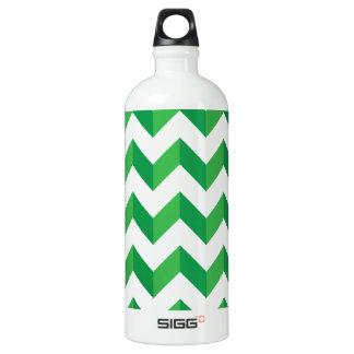 Cool Chevron Zig Zag Green Aluminum Water Bottle