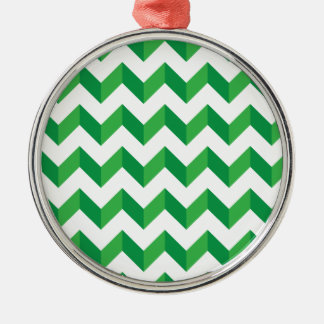 Cool Chevron Zig Zag Green Ornament