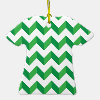 Cool Chevron Zig Zag Green Christmas Ornament