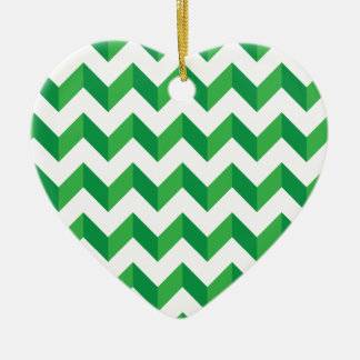 Cool Chevron Zig Zag Green Christmas Tree Ornament