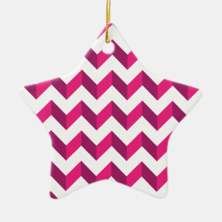 Cool Chevron Zig Zag Pink Ornaments