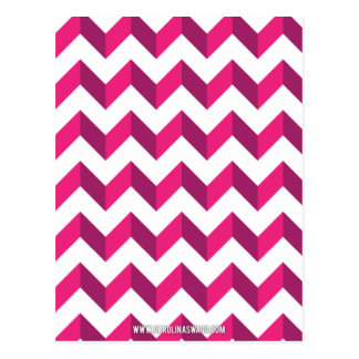 Cool Chevron Zig Zag Pink Postcard