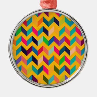 Cool Chevron Zig Zag Wild Colors Christmas Ornaments