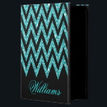 "Cool chevron zigzag peacock blue  faux glitter powis iPad air 2 case<br><div class=""desc"">Cool trendy girly chevron zigzag peacock blue faux glitter pattern, monogram, shining, glowing stars, dark grey background, vibrant peacock blue, white colors, silver grey , dark grey, fashionable, trendy, cute, awesome, pretty, popular, decorative, custom, unique, art, fresh, beautiful, fashion, shabby chic, elegant, modern image. Personalise your name, surname, or favourite...</div>"