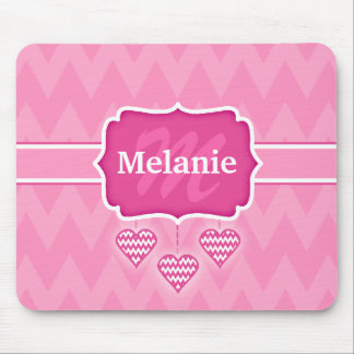 Cool Chevron Zigzag Pink Valentine's Day Mouse Pad