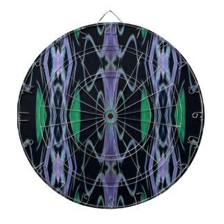 Cool Chic Artistic Purple Green Uncommon Pattern Dartboard