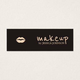 Cool Chic Dark Pale Pink Lips Makeup Artist Mini Business Card