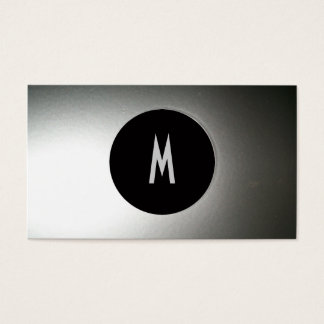 Cool Chic Elegant Modern Bro Black/Silver Steel Business Card