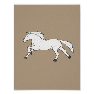 Cool Chic Hand Drawn Horse Poster