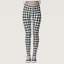 fbccc96986b7a3 Cool Chic houndstooth Checkered Pattern Your Color Leggings
