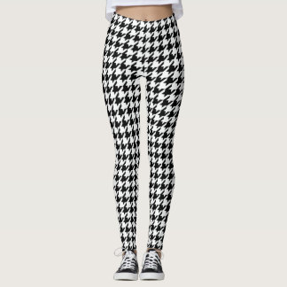 Cool Chic houndstooth Checkered Pattern Your Color Leggings