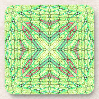 Cool Chic Lime Green X Marks the Spot Coaster