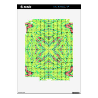 Cool Chic Lime Green X Marks the Spot Decals For iPad 2
