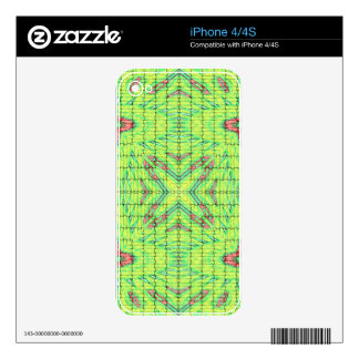 Cool Chic Lime Green X Marks the Spot Decals For iPhone 4