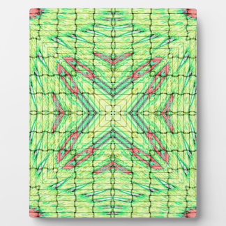 Cool Chic Lime Green X Marks the Spot Plaque