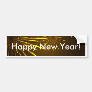 Cool Chic Modern Fireworks in the Sky Bumper Sticker