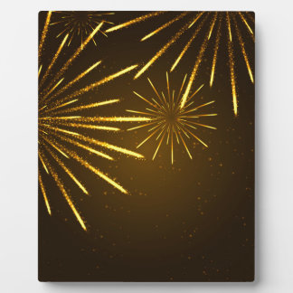 Cool Chic Modern Fireworks in the Sky Plaque