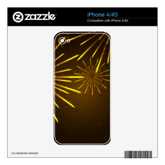 Cool Chic Modern Fireworks in the Sky Skins For iPhone 4