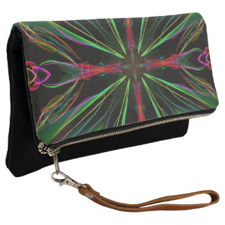 Cool Chic Night On The Town Holiday Pattern Clutch