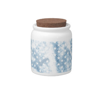 Cool Chic Retro Crinkled American Stars Candy Jars