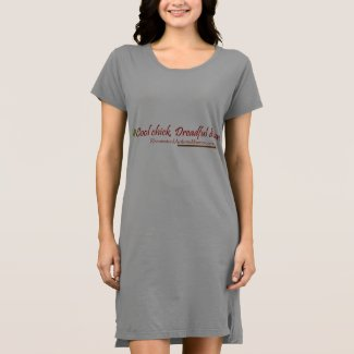 Cool chick, dreadful disease T-shirt dress