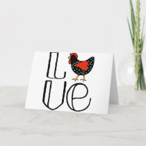 Cool Chicken Love Art Holiday Card