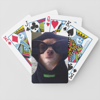 Cool Chihuahua Bicycle Playing Cards