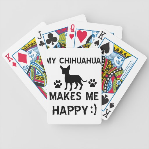 Cool Chihuahua dog breed designs Bicycle Playing Cards