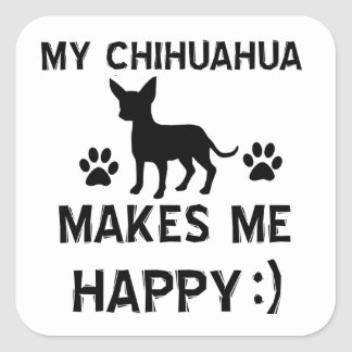 Cool Chihuahua dog breed designs Square Sticker