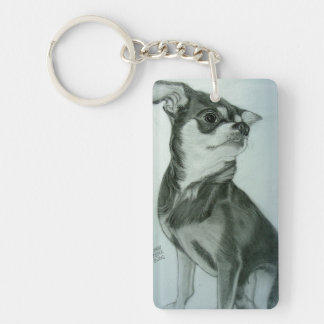Cool Chihuahua Keychain artwork by Carol Zeock