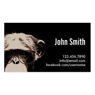 Cool Chimp in the Dark Profile Card Business Card