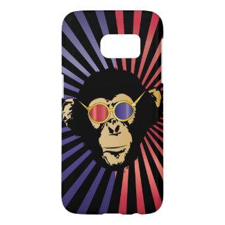 Cool Chimpanzee In 3D Glasses Samsung Galaxy S7 Case
